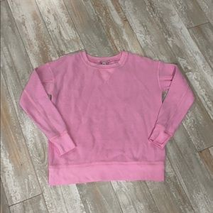 AE pink fuzzy sweatshirt xs